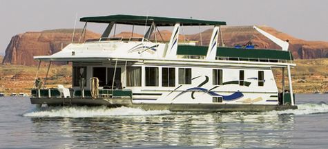 House boat on Lake Powell.